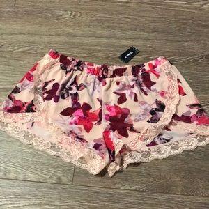 Express light weight floral shorts